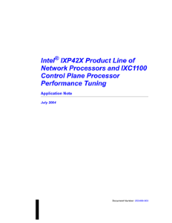 IXP42X Product Line Performance Tuning: Application Note