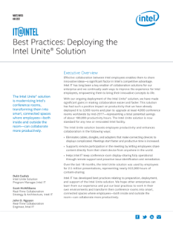 Best Practices: Deploying the Intel® Unite™ Solution