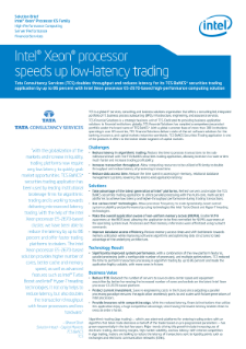Tata Consultancy Services Speeds Low-Latency Trading