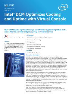 Intel® DCM Optimizes Cooling and Uptime with Virtual Console
