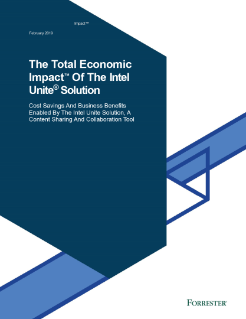 Total Economic Impact™ of Intel Unite® Solution