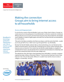 Making the Connection: Groups Aim to Bring Internet Access to All Households