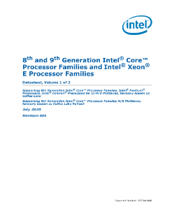 Datasheet, Vol. 1: 8th Gen Intel® Core™ Processor