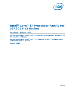 ® Intel Core™ i7 Processor Family for LGA2011-v3 Socket Datasheet – Volume 1 of 2