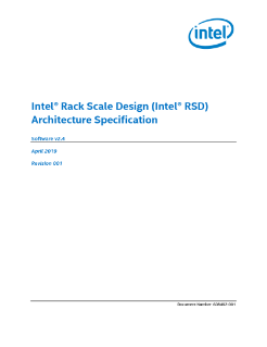 Intel® Rack Scale Design (Intel® RSD) Architecture Specification
