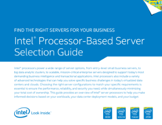 Intel® Processor-Based Server Selection Guide