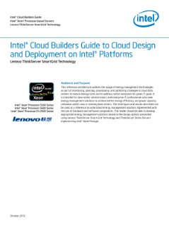 Intel® Cloud Builders Guide to Cloud Design and Deployment on Intel® Platforms: Lenova ThinkServer SmartGrid Technology