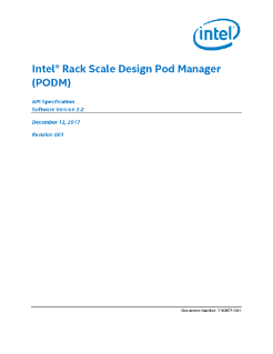 Intel® Rack Scale Design (Intel® RSD) POD Manager Specification