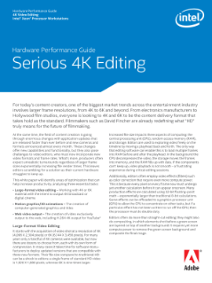 Intel® Xeon® Processor Workstations Deliver Serious 4K Editing