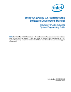 Intel® 64 and IA-32 Architectures Software Developer's Manual V3