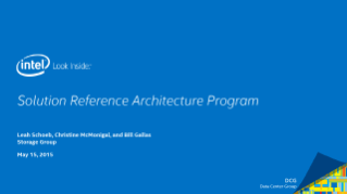 Overview of Intel's Storage Solution Reference Architectures