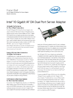 Intel® 10 Gigabit AF DA Dual Port Server Adapter
