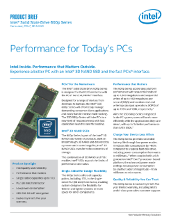 Intel® SSD 600p Series Product Brief