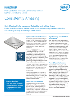 Intel® SSD Data Center Family for SATA