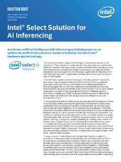 Intel Select Solutions for AI Inferencing