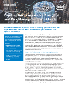 Faster SAS Analytics for Transformative Results