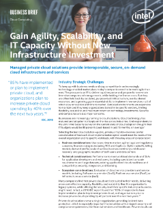Gain Agility, Scalability, and IT Capacity Without New Infrastructure Investment