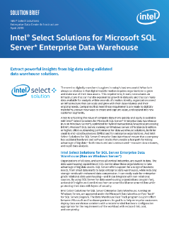 Intel Select Solutions for Microsoft SQL Server Enterprise Data Warehouse
