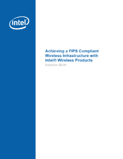 FIPS Compliant Infrastructure with Intel Wireless: Solution Brief