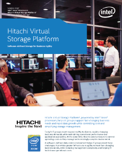 Hitachi Virtual Storage Platform*: Software-Defined Storage for Business Agility
