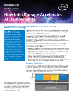 How Intel Storage Accelerates AI Deployments