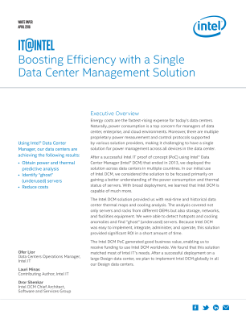 Boost Efficiency with Intel® Data Center Manager (Intel® DCM)