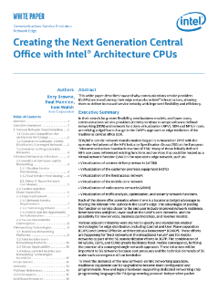 Creating the Next Generation Central Office (NGCO)