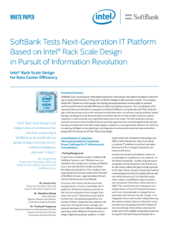 SoftBank Tests Next-Gen IT Platform Based on Intel® RSD in Pursuit of Information Revolution