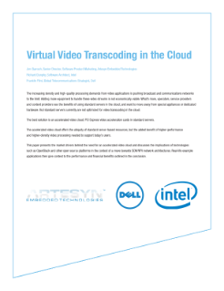Virtual Video Transcoding and Accelerated Video in the Cloud